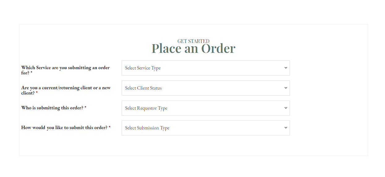 Place an Order - Get Started CROPPED