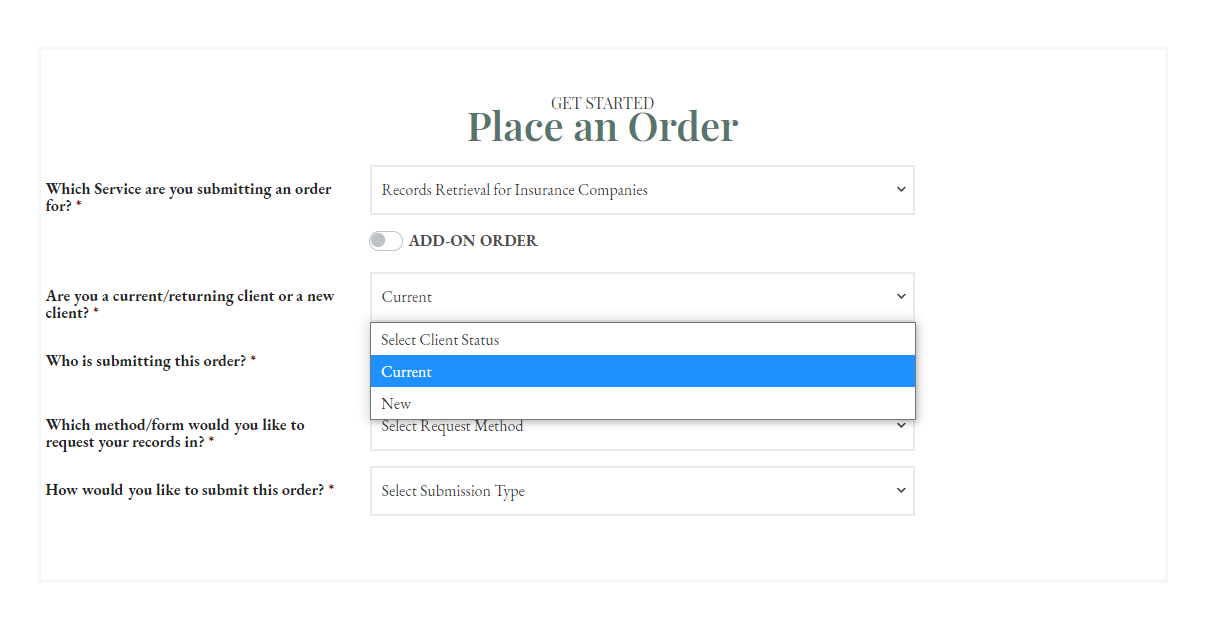Place an Order - RR Insurance - Current CROPPED