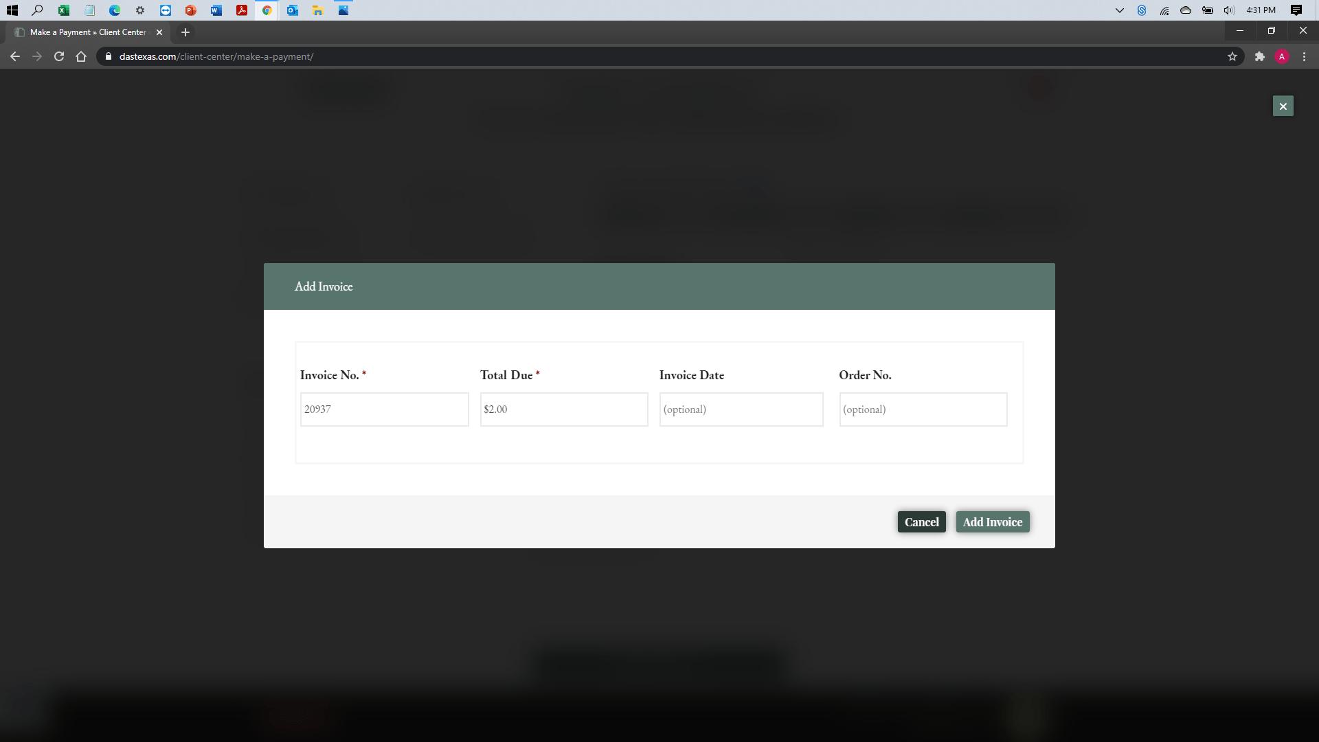 [help docs] Make a Payment - eCheck - Invoice Attach 1