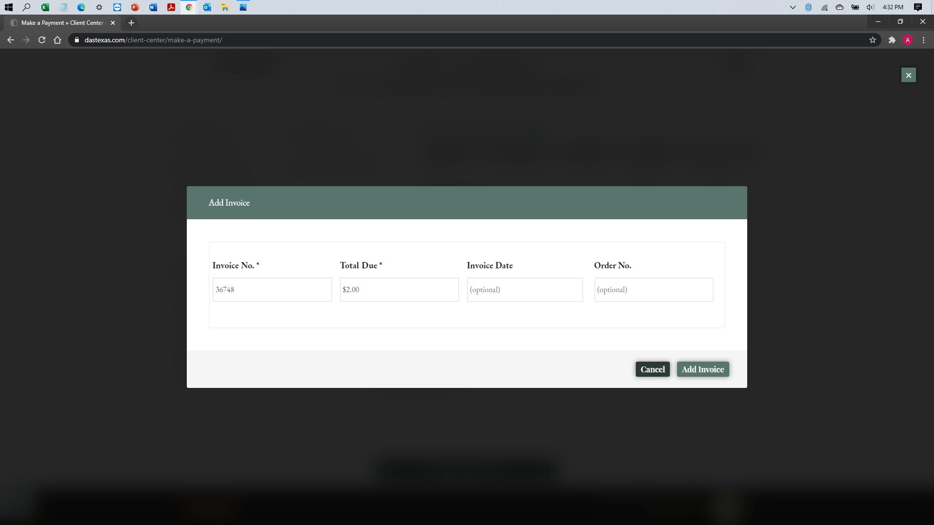 [help docs] Make a Payment - eCheck - Invoice Attach 2